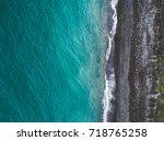 aerial view of sea shoreline... | Shutterstock . vector #718765258