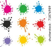 Vector Set Of Colored Blots On...