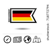 made in germany flag with... | Shutterstock .eps vector #718772794