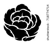 flower rose  black and white.... | Shutterstock .eps vector #718774714