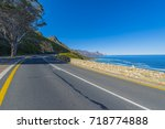 cape town  clarence drive  ... | Shutterstock . vector #718774888