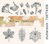 vector illustration. pen style... | Shutterstock .eps vector #718776358