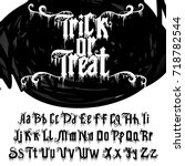 "decorative font named ""trick or ... 