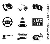 work icons set. simple set of 9 ... | Shutterstock .eps vector #718783330