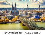 aerial view of cologne  germany | Shutterstock . vector #718784050