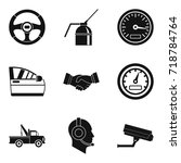car evacuation icons set.... | Shutterstock .eps vector #718784764