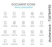 document theme  line icon set....   Shutterstock .eps vector #718784950