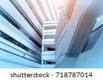 modern business office... | Shutterstock . vector #718787014