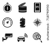 remote control icons set.... | Shutterstock .eps vector #718790950