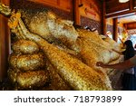 reclining buddha image | Shutterstock . vector #718793899