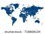 world map | Shutterstock .eps vector #718808134
