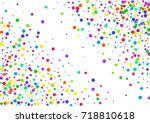 watercolor rainbow colored... | Shutterstock . vector #718810618