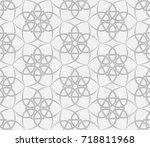 seamless geometric pattern.... | Shutterstock .eps vector #718811968