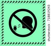 no sing sign vector icon | Shutterstock .eps vector #718819243