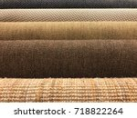 samples of brown woven sisal... | Shutterstock . vector #718822264