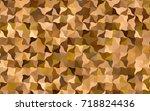 light orange vector crooked...   Shutterstock .eps vector #718824436