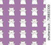seamless pattern background... | Shutterstock .eps vector #718831330