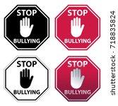 Hand Blocking Sign Stop...