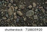rocky soil. stony soil. stony... | Shutterstock . vector #718835920