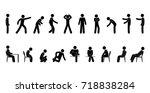 Vector Man Stick Figure. Perso...