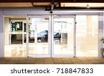 blank sliding glass doors... | Shutterstock . vector #718847833