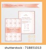 luxury wedding invitation...   Shutterstock .eps vector #718851013
