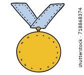 cartoon sports medal | Shutterstock .eps vector #718868374