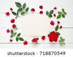 retro empty photo frame for the ... | Shutterstock . vector #718870549