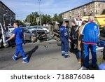 moscow  russia   september 20 ... | Shutterstock . vector #718876084