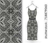 vector fashion illustration.... | Shutterstock .eps vector #718879060