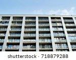 modern  luxury apartment... | Shutterstock . vector #718879288