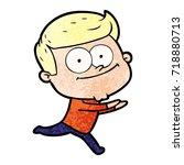 cartoon happy man | Shutterstock .eps vector #718880713