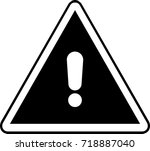 general warning information sign | Shutterstock .eps vector #718887040