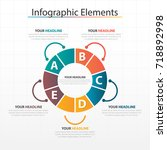 business timeline process chart ...   Shutterstock .eps vector #718892998