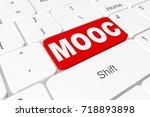 "button ""mooc"" on 3d keyboard | Shutterstock . vector #718893898"