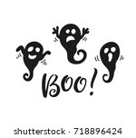 halloween party poster with... | Shutterstock .eps vector #718896424