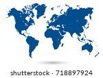 world map | Shutterstock .eps vector #718897924
