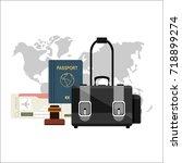 flat design style modern... | Shutterstock . vector #718899274