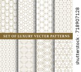 asian luxury vector patterns... | Shutterstock .eps vector #718907128