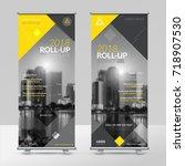 business roll up design... | Shutterstock .eps vector #718907530