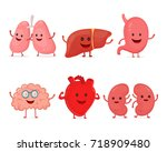 cute smiling happy human... | Shutterstock .eps vector #718909480