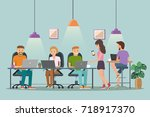 vector illustration of... | Shutterstock .eps vector #718917370