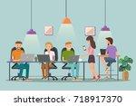 vector illustration of... | Shutterstock .eps vector #718917370