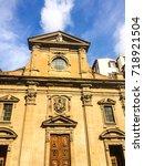 italian basilica | Shutterstock . vector #718921504