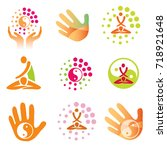 icons massage health. set of...   Shutterstock .eps vector #718921648