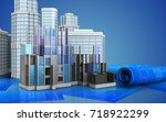 3d illustration of construction ... | Shutterstock . vector #718922299