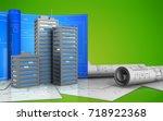 3d illustration of city... | Shutterstock . vector #718922368