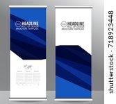 roll up business brochure flyer ... | Shutterstock .eps vector #718923448