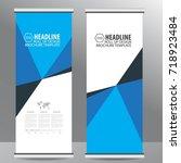 roll up business brochure flyer ... | Shutterstock .eps vector #718923484