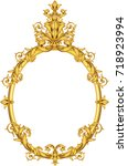 vector golden frame in... | Shutterstock .eps vector #718923994